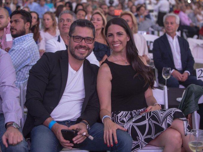 Fidel Fernández y Cynthia Saloma