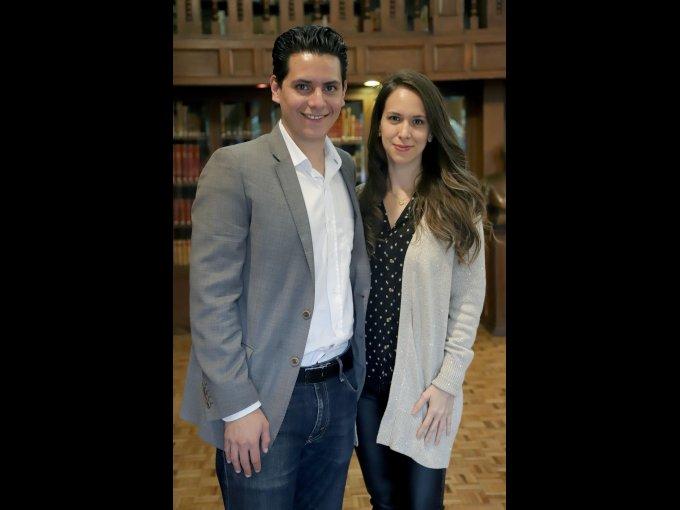 Jorge Alvarado y Andrea Adame
