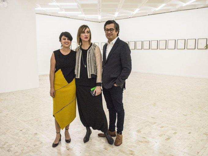 Brenda Lozano, Geovana Ibarra y Jorge Méndez Blake