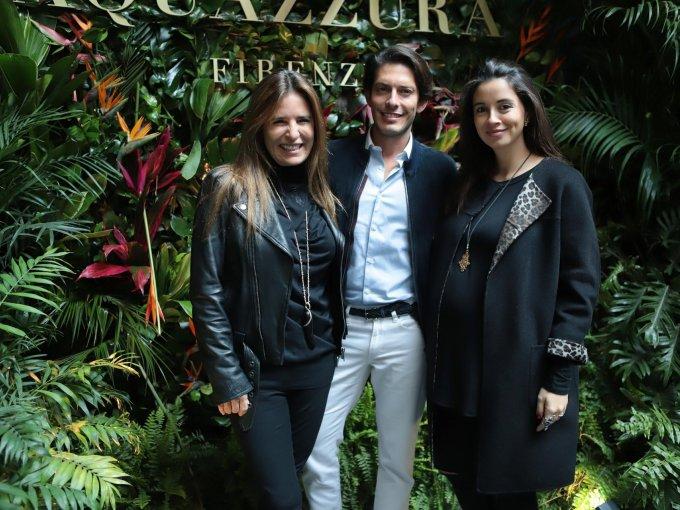 Lina Botero, el diseñador Edgardo Osorio y Andrea Wild