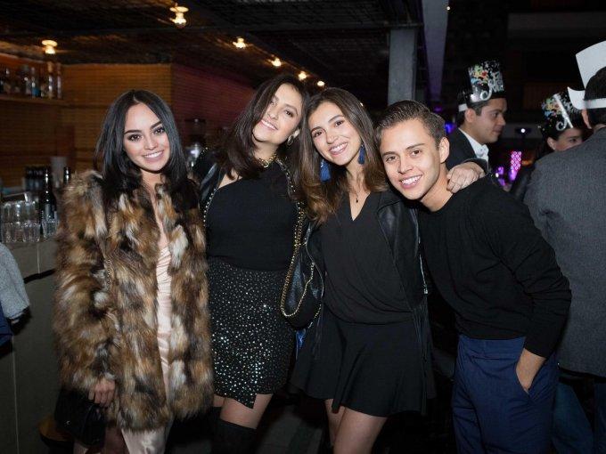 Alejandra Castañeda, Isabel Amesquita, Paola Martínez y Eric Castañeda