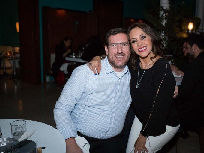 Brian Van Hoof y Mónica Sánchez