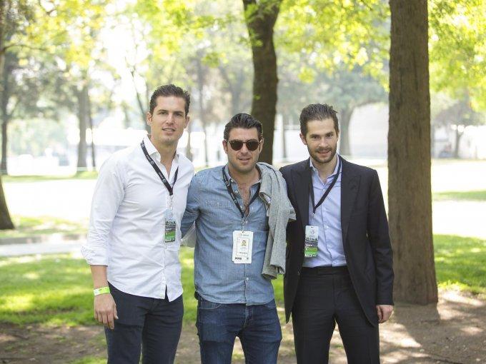 Gerardo Rivera, Domingo Cañizo y Santiago Creel