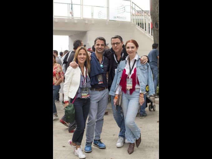 Carla Maury, Santiago Fernández, Alfredo Gatica y Lisette Trepaud