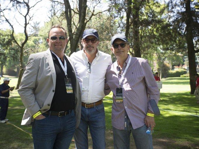 Ismael Encinas, Luis Peyrelongue y Joaquín Riba