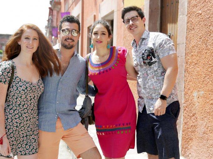 María José López, Manuel Miranda, Mariana Torres y Alejandro Jiménez