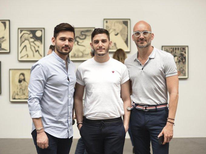 Ricardo González, José Schnaider y Edmundo Salinas