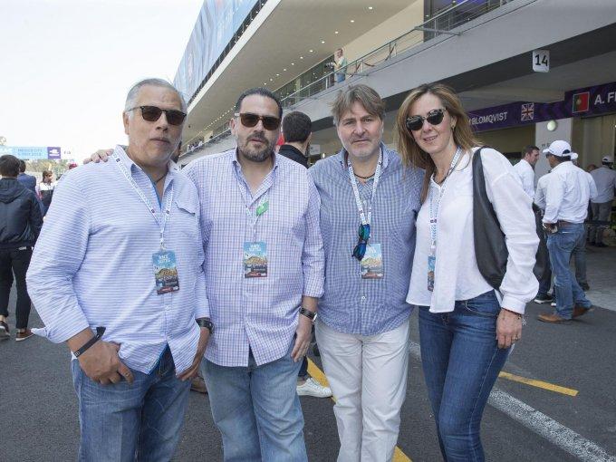 Braulio Mendieta, José Valdéz, Rafael Lecumberri y Mónica Compeán