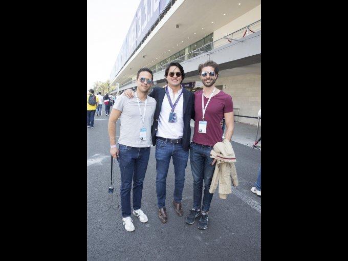 Pablo Arellano, Eduardo Villalobos y Richard Kuri
