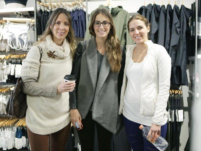 Diana Flores, Verea Alesanto y Andrea Vázquez