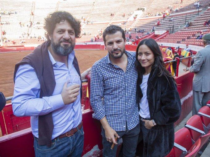 Juan Gaitán, Alejandro Castro y Pamela Ocampo