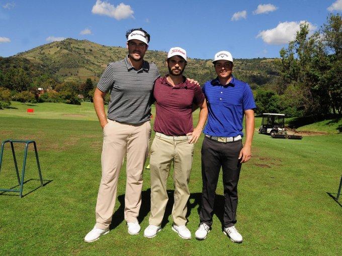 Samuel del Val, Santiago Bauni y George Trujillo
