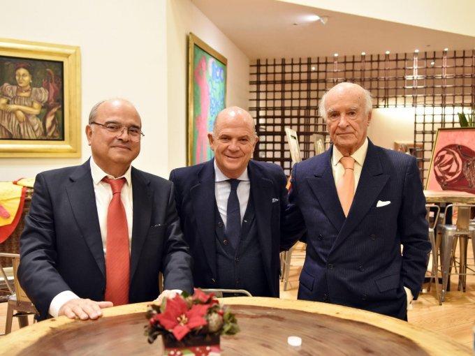 Rogelio Pérez Cano, Javier Sordo Madaleno y José Carral