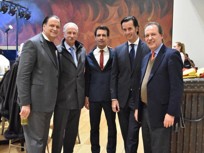 Pablo Moreno, Germán Mercado, Arturo Macías, Rafael Cué y Pedro Vaca