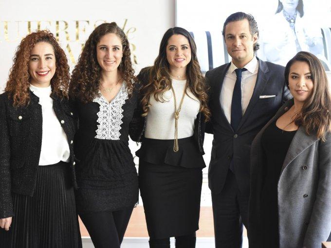 Pilar Berber, Sofía Rage, Araceli Becerril, Maximiliano Frenza e Irais Uribe