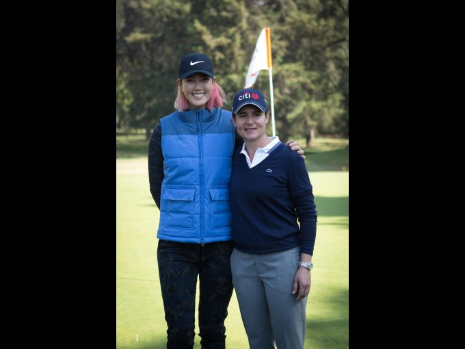 Michelle Wie y Lorena Ochoa