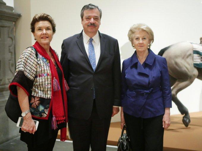 Cristina Gálvez, Andrés Albo Márquez y Cristina Artigas