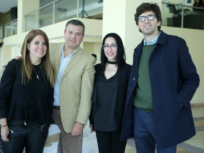 Lorenza Bucci, Pablo Bucci, Claudia Palenzona e Ignacio Méndez