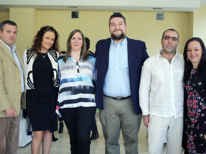 Pablo Bucci, Ericka Ulrich, Karina Fogel, Rodrigo Martínez, Jorge Caetano y Cecilia Torres