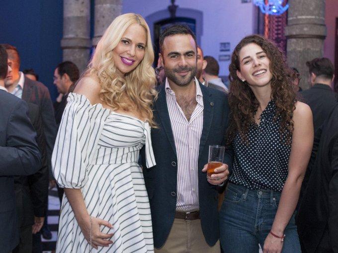 Cori Paredes, Pedro Ros y Nicole Chalita