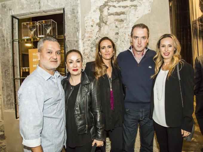 René Poire, Paulina Morán, Paola Tomás, Andrés Ortiz y Amira Padilla