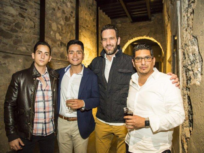 Santiago Alarcón, Javier Natarén, Lucas Stouch y Daniel González