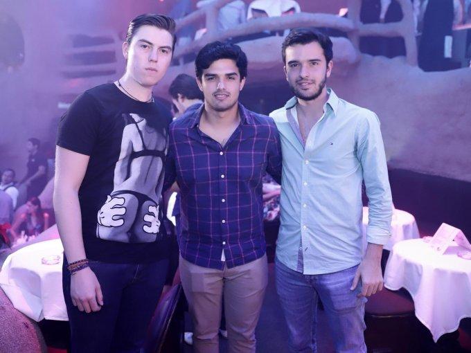 Gastón Ezquivel, Rodrigo González y Miguel Ángel García