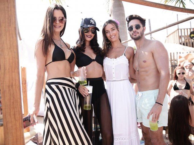 Núbia Gouvêa, Jessica Infante, Júlia Freiberger y Alejandro Vázquez Vela