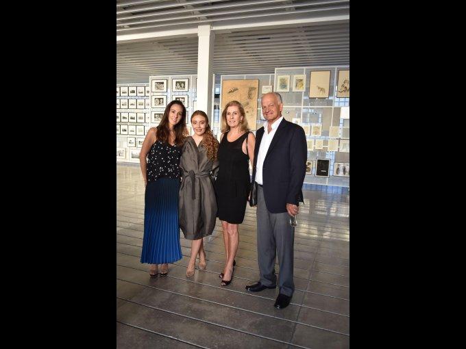 María Lagos y Bárbara Bang con Solange y Antonio Braun