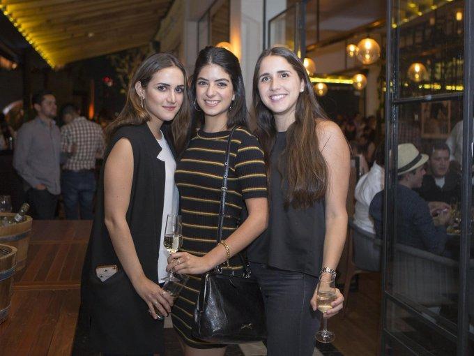 Valeria Solís, Claudia Marmolejo y Andrea Fernández