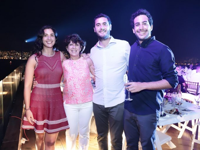 Ana Toubiana, Fredel Romano, Coque García Cueto y Mathias Toubiana