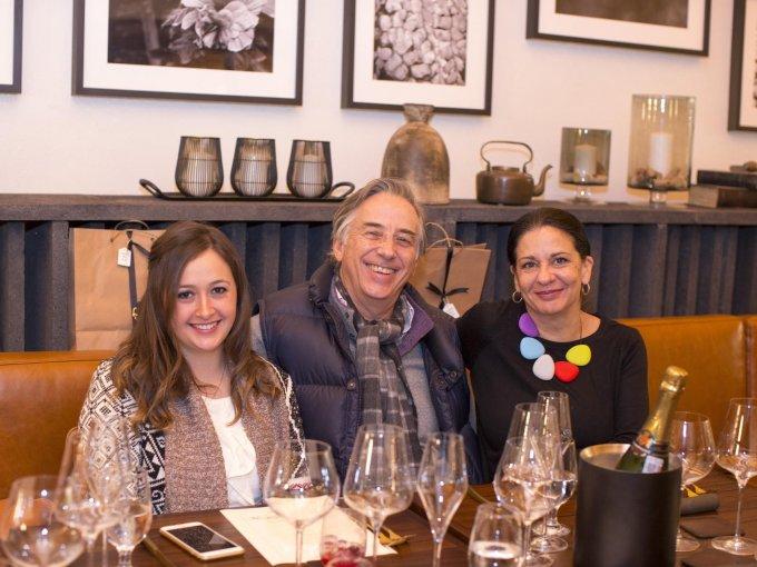 Gabriela Ramos, Daniel de Laborde y Cristina Kahlo