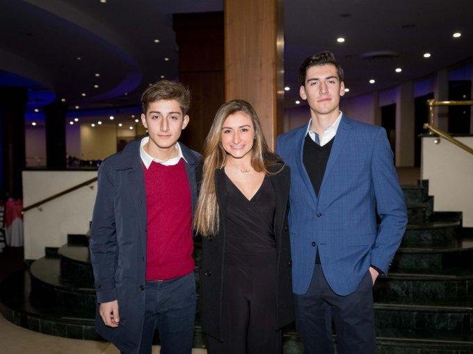 José Harb, Adriana Harb y Patrick Harb