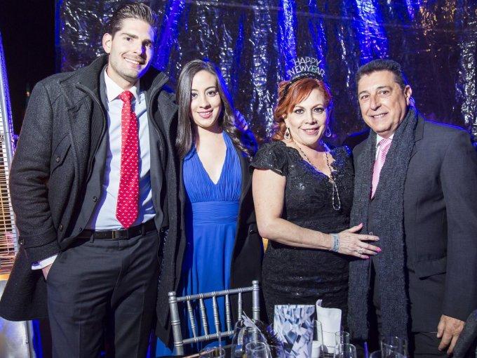 Miguel Lozano, Gabriela Buenrostro, Mariela Elizondo y Miguel lozano