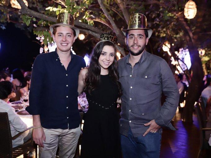 Juan Pablo Maza, María José Maza y Miguel Ángel Maza