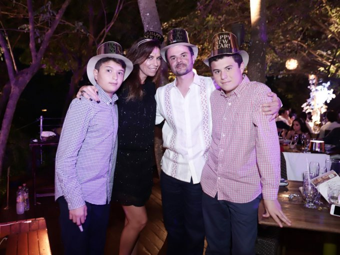 Emiliano Aguilar, Carolina Aguilar, Adolfo Aguilar y Jerónimo Aguilar