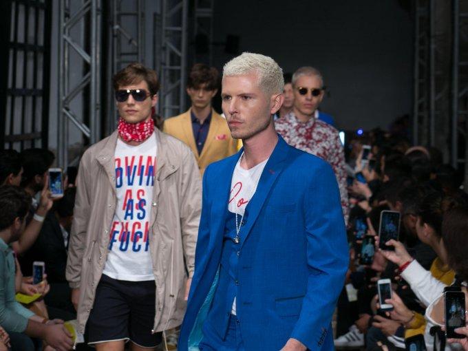 """Galo Bertin se inspiró en el hombre que ha descubierto el amor en una persona sin importar género o imagen. Colección """"LOVE"""" en Mercedes-Benz Fashion Week México"""