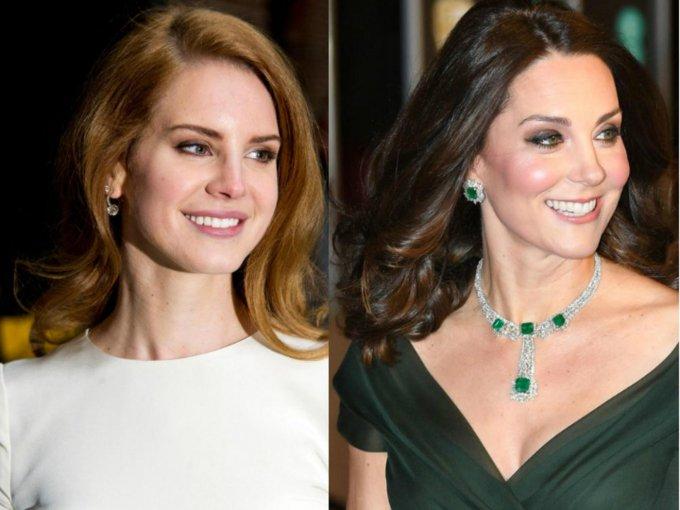 ¡No habíamos notado el parecido de Kate Middleton y Lana del Rey!