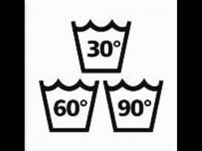 Te indica la temperatura máxima de lavado