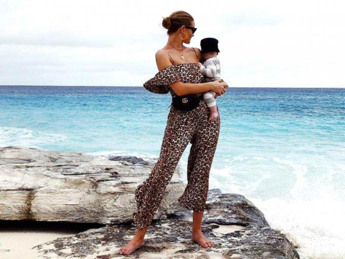 Para morir de amor con estas fotos de Rosie Huntington-Whiteley con su hijo: