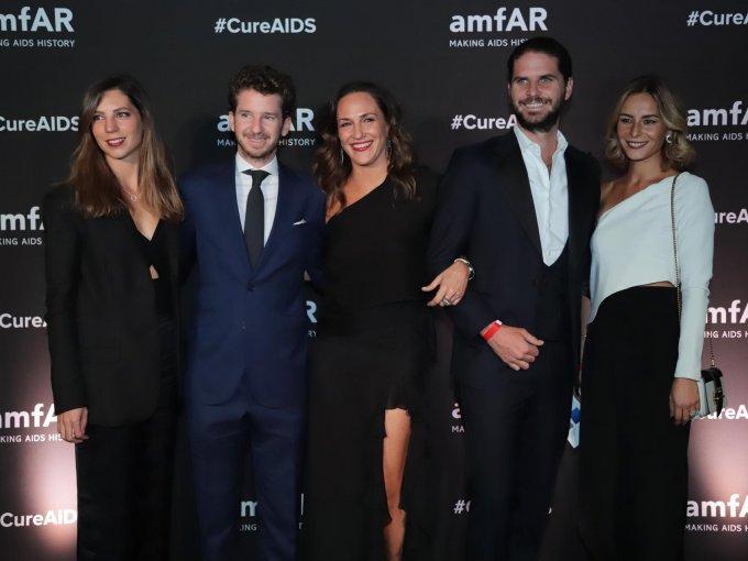 Anne, Diego y Mariana Baños con Javier Sordo Madaleno y Marta Rivera Torres