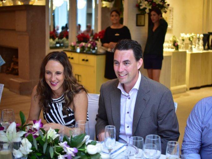 Nicole Thorn y Brandon Wood