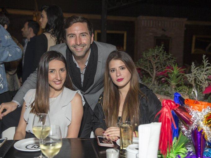 Claudia Trelles, Daniel Ducoing y Andrea Morfin