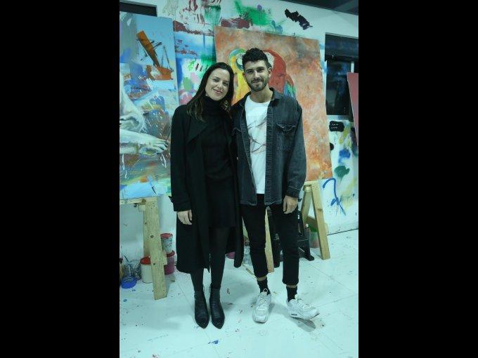 Michelle Díaz con Dimitri Voulgaris