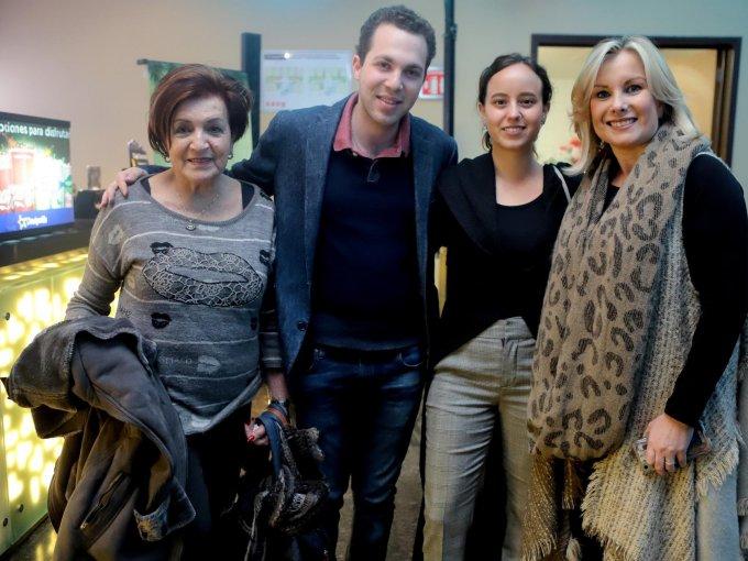 Sifi Hanono, David Hamui, Rebeca y Mati Zaga