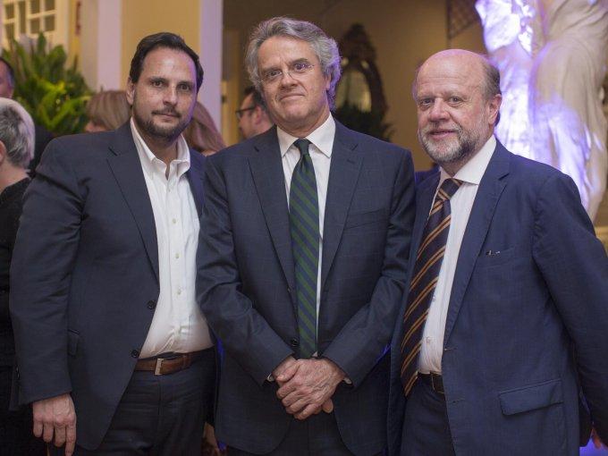 Germán González, Jorge Mijares y Eduardo Solórzano