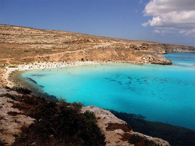 4. Isola dei Conigli Lampedusa, Islas de Sicilia.