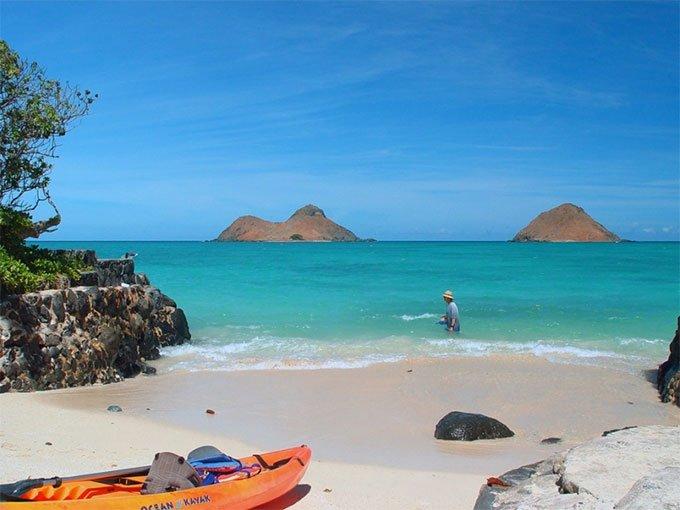 8. Lanikai Beach Kailua, Hawái.