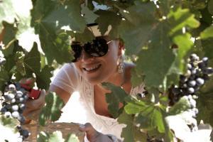 Entre uvas. Adriana Escalante