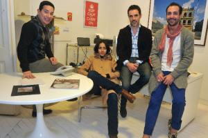 William Gaber, Cecilia Suárez, Santiago Toca y Alejandro Carlín